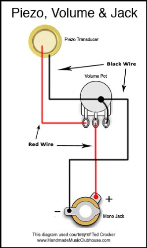 piezo transducer wiring diagram with Do It Yourself Piezo Pickup Kit For Cigar Box Guitars Includes Piezoelectric Contact Pickups Volume Potentiometer And Jack on Water Pressure Transducer Schematic also Piezoelectric Effect Diagram as well Dc To Dc Double Cell Phone Charger besides Seymour Duncan Piezo Wiring Diagrams furthermore Top Listings279.