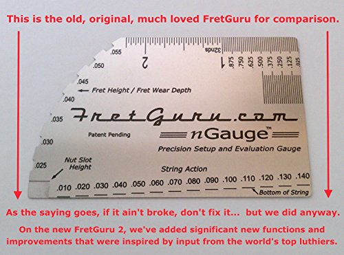 Advanced new design shipping now see description for free handmade 0 0 - Fretguru 2 Precision 8 In 1 Guitar String Action Gauge